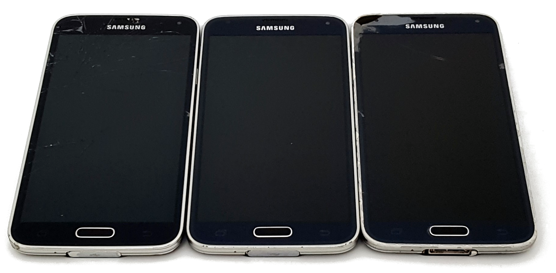 Power on, Bad Digi (Digitizer) images of Wholesale Used Samsung Galaxy S5 Smartphone phones