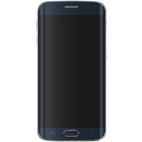 Wholesale Used Samsung Galaxy S6 Edge Blue Front Phone.png