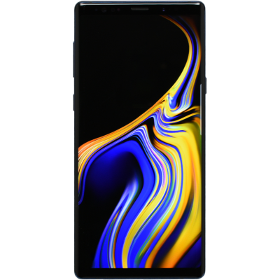 Wholesale Used Samsung Galaxy Note 9 Phone, front view with display on.png