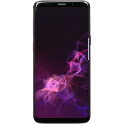 Wholesale Used Samsung Galaxy S9 Phone, front view with display on.png