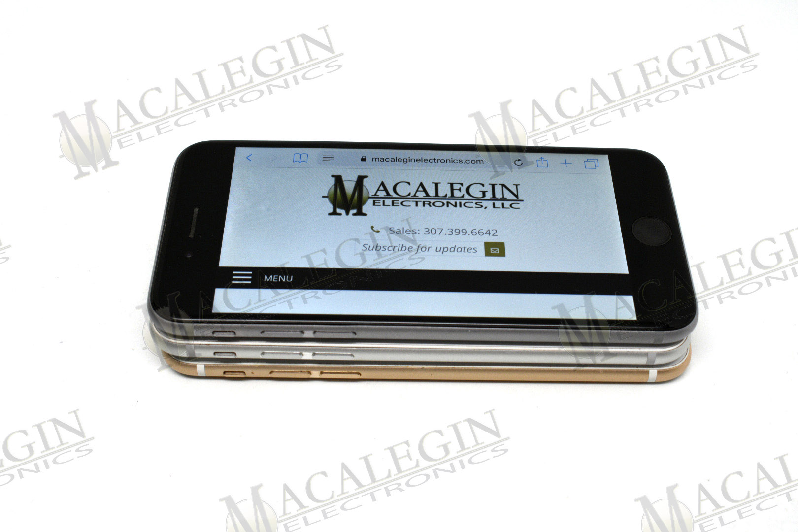 Used APPLE A1549 IPHONE 6 128GB UNLOCKED in PFL condition for sale from Macalegin Electronics at $120 a piece.