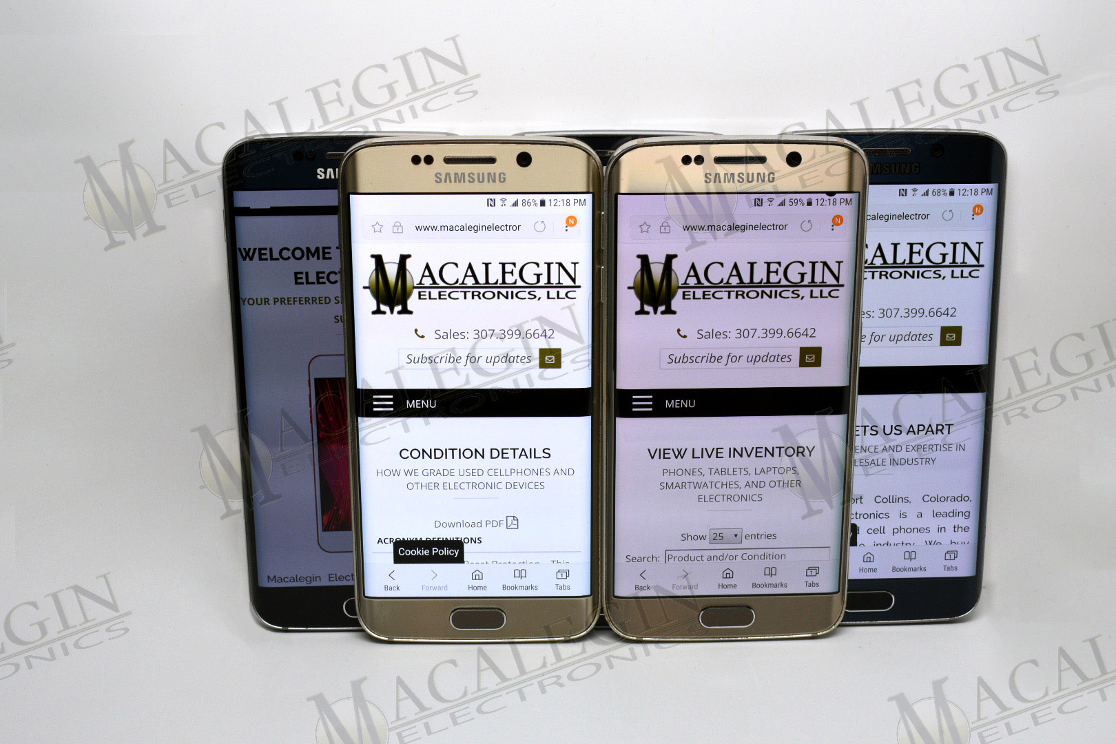 Used SAMSUNG SM-G925A GALAXY S6 EDGE UNLOCKED in PFL condition for sale from Macalegin Electronics at $82 a piece.